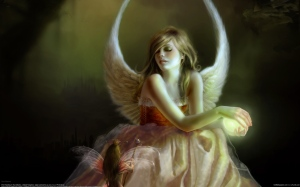 Sue marino, девушка, ангел, эльф, магия, крылья, 2560x1600